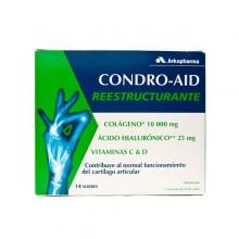 CONDROAID REESTRUCTURANTE COLAGENO Y HIALURONIC  14 SOBRES